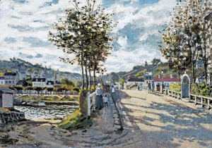 Claude Oscar Monet - The Bridge At Bougival