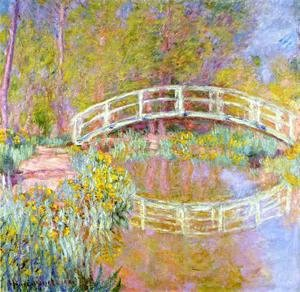Claude Oscar Monet - The Bridge In Monets Garden