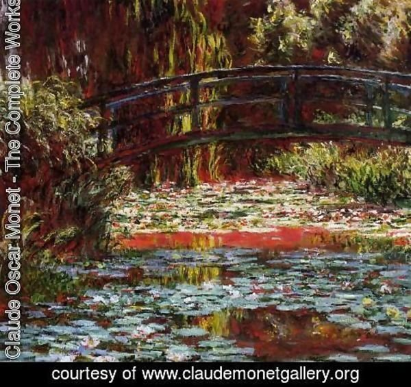 Claude Oscar Monet - The Bridge Over The Water Lily Pond2