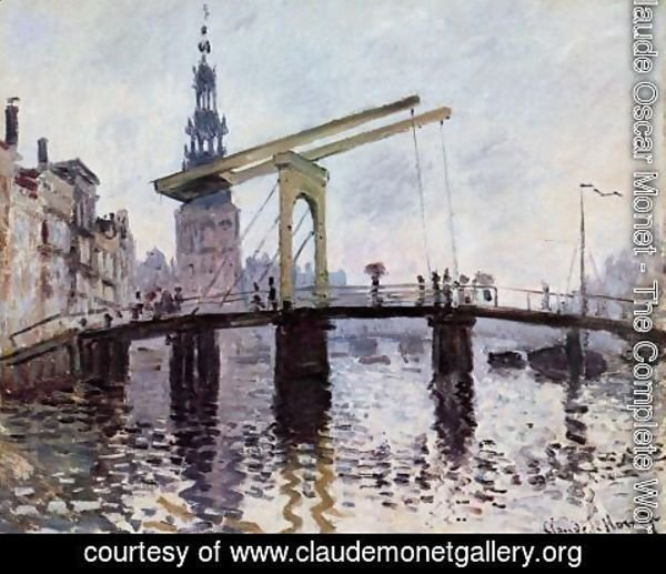 Claude Oscar Monet - The Bridge  Amsterdam