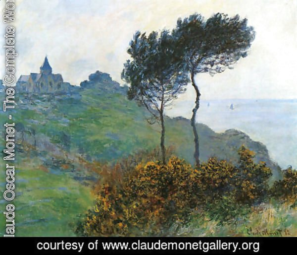 Claude Oscar Monet - The Church At Varengaville  Grey Weather