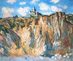 Claude Oscar Monet - The Church At Varengeville  Morning Effect