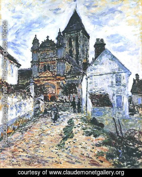 Claude Oscar Monet - The Church At Vetheuil