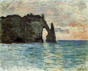 Claude Oscar Monet - The Cliff At Etretat