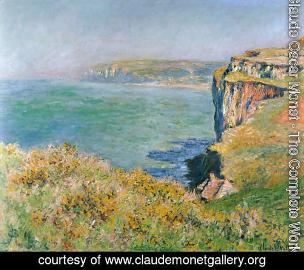 Claude Oscar Monet - The Cliff At Varengeville