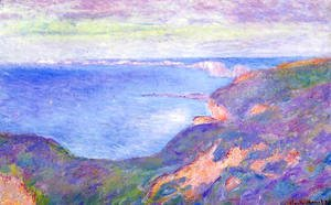 Claude Oscar Monet - The Cliff Near Dieppe