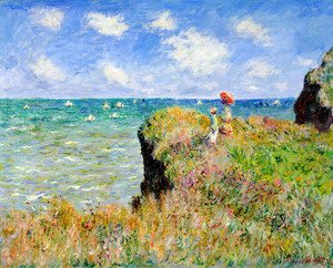 Claude Oscar Monet - The Cliff Walk  Pourville