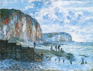 Claude Oscar Monet - The Cliffs Of Les Petites Dalles