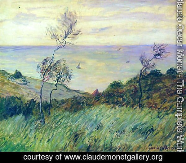 Claude Oscar Monet - The Cliffs Of Varengeville  Gust Of Wind