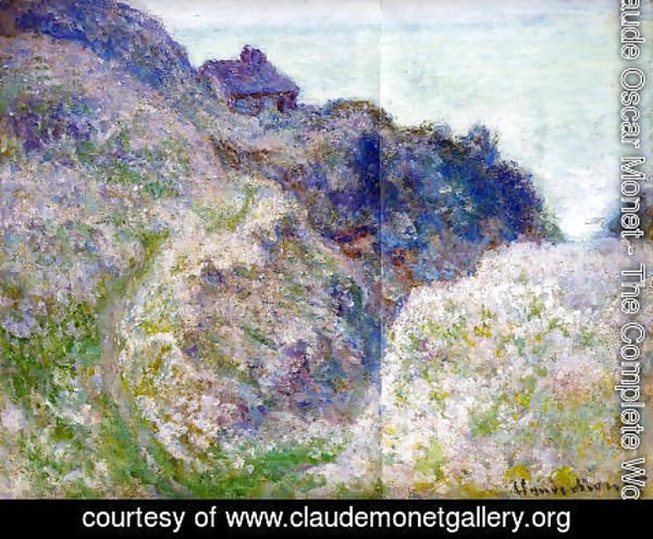Claude Oscar Monet - The Coastguard Cabin At Varengeville