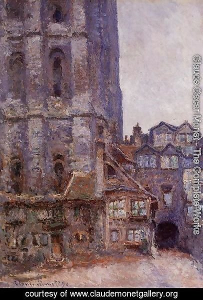 Claude Oscar Monet - The Cour D Albane  Grey Weather