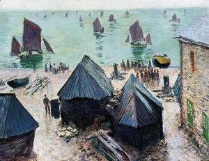 Claude Oscar Monet - The Departure Of The Boats  Etretat
