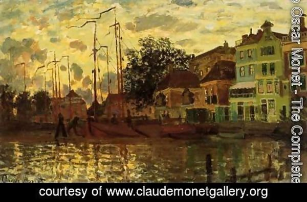 Claude Oscar Monet - The Dike At Zaandam  Evening