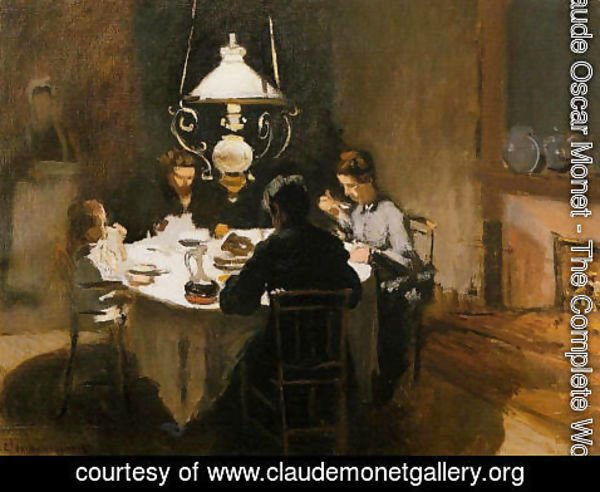 Claude Oscar Monet - The Dinner