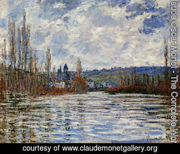 Claude Oscar Monet - The Flood Of The Seine At Vetheuil