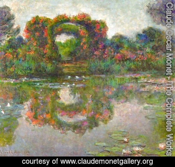 Claude Oscar Monet - The Flowered Arches At Giverny