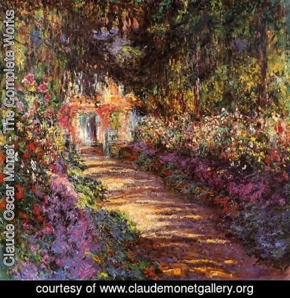 Claude Oscar Monet - The Flowered Garden