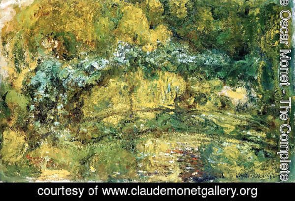 Claude Oscar Monet - The Footbridge Over The Water Lily Pone