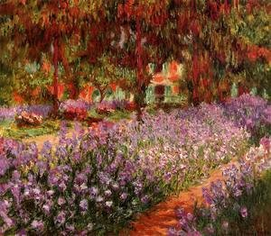 Claude Oscar Monet - The Garden Aka Irises