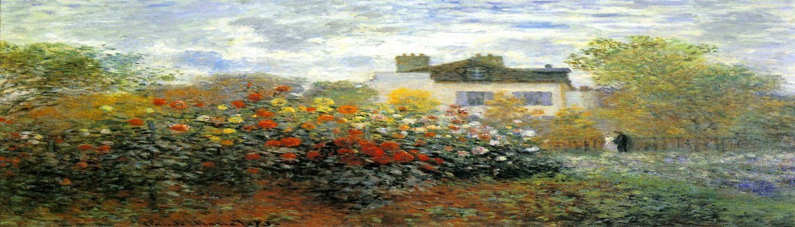 Claude Oscar Monet - The Garden At Argenteuil Aka The Dahlias