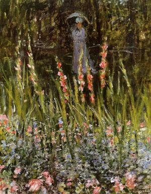 Claude Oscar Monet - The Garden  Gladioli