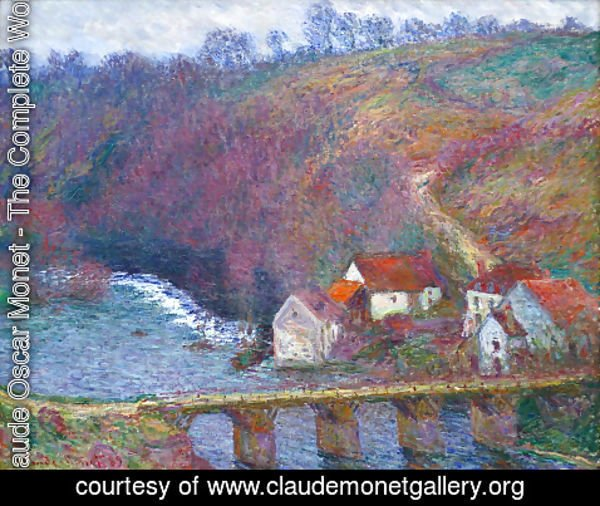 Claude Oscar Monet - The Grande Creuse By The Bridge At Vervy