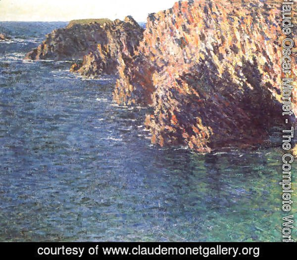 Claude Oscar Monet - The Grotto Of Port Domois