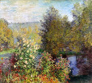 Claude Oscar Monet - The Hoschedes Garden At Montgeron