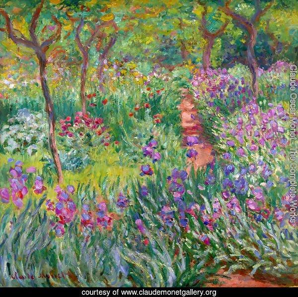 monet iris garden