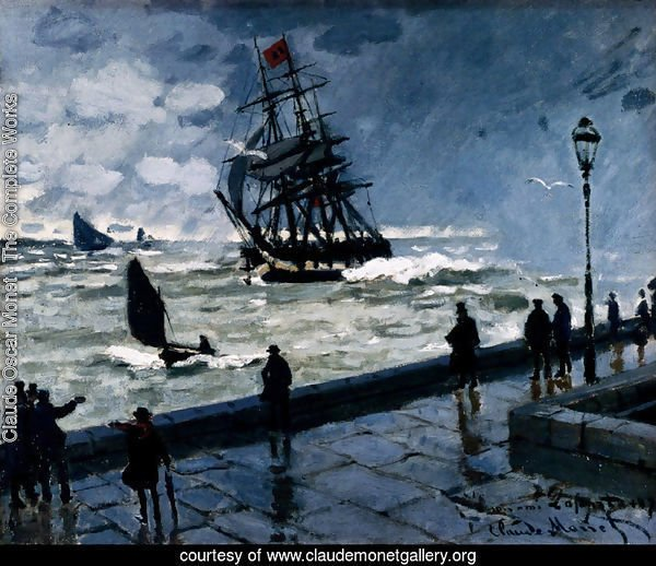 The Jetty Of Le Havre In Rough Westher