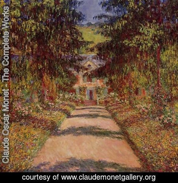 Claude Oscar Monet - The Main Path At Giverny