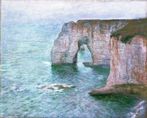 Claude Oscar Monet - The Manneport Seen From The East