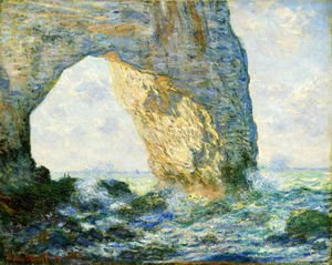 Claude Oscar Monet - The Manneport  Etretat