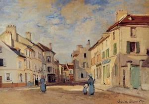Claude Oscar Monet - The Old Rue De La Chaussee  Argenteuil