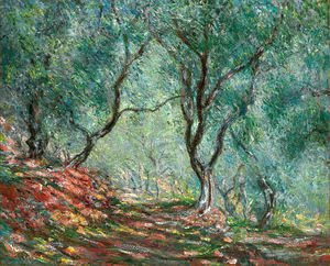 Claude Oscar Monet - The Olive Tree Wood In The Moreno Garden