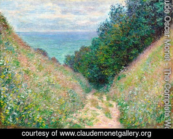 Claude Oscar Monet - The Path At La Cavee  Pourville