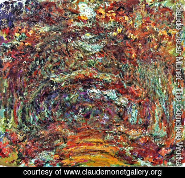 Claude Oscar Monet - The Path Under The Rose Arches  Giverny