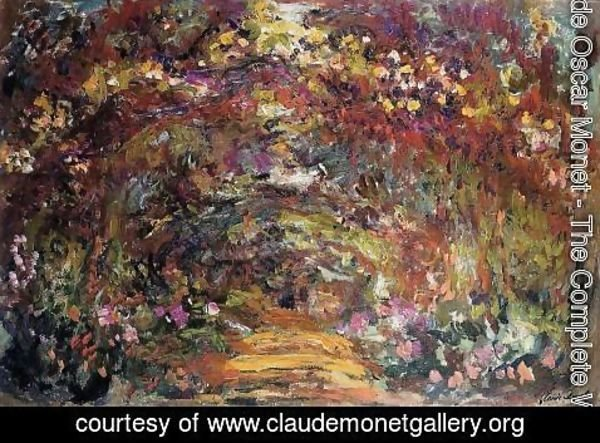 Claude Oscar Monet - The Path Under The Rose Trellises  Giverny
