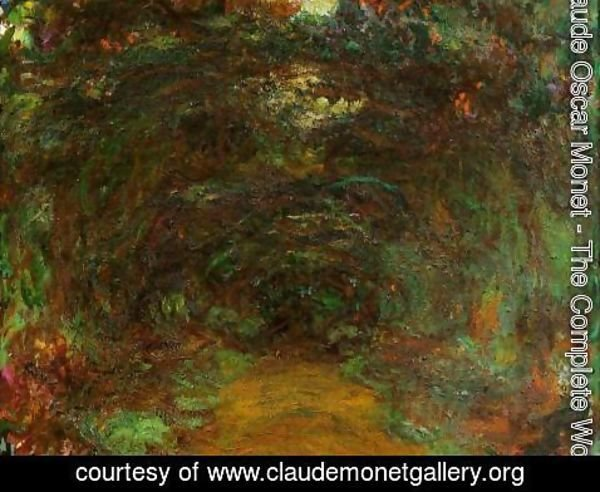 Claude Oscar Monet - The Path Under The Rose Trellises  Giverny2