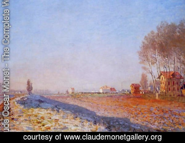 Claude Oscar Monet - The Plain Of Colombes  White Frost