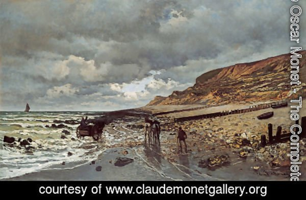 Claude Oscar Monet - The Pointe De La Heve At Low Tide