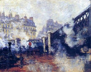 Claude Oscar Monet - The Pont De L Europe  Saint Lazare Station