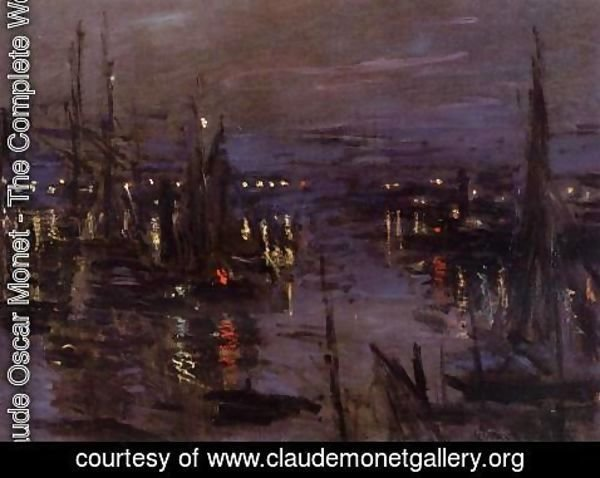 Claude Oscar Monet - The Port Of Le Havre  Night Effect