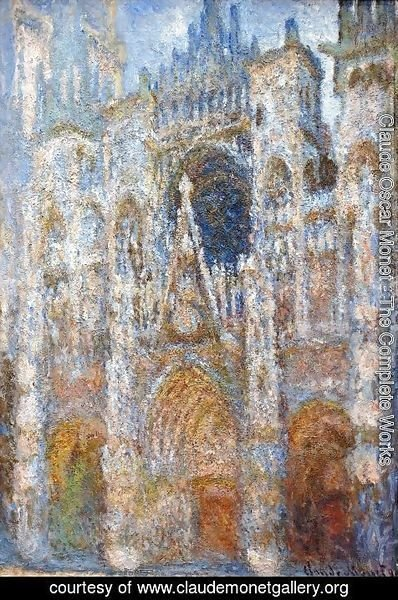 Claude Oscar Monet - The Portal Of Rouen Cathedral At Midday