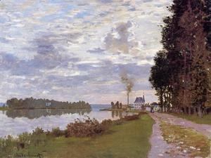 Claude Oscar Monet - The Promenade At Argenteuil