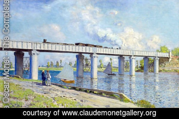 Claude Oscar Monet - The Railroad Bridge At Argenteuil2