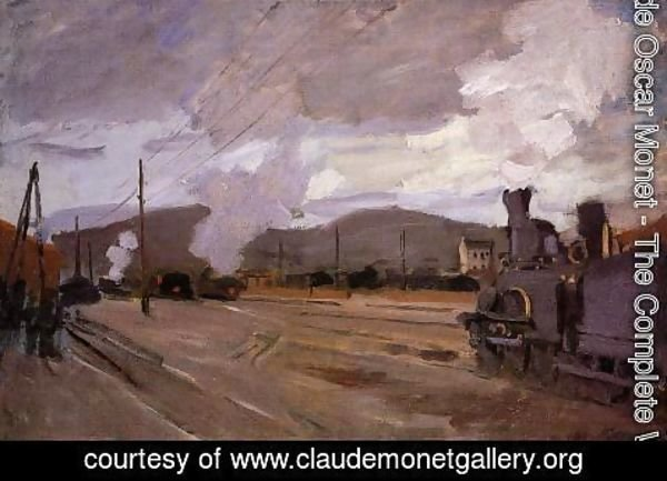 Claude Oscar Monet - The Railroad Station At Argenteuil