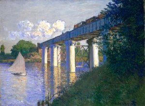 Claude Oscar Monet - The Railway Bridge At Argenteuil3