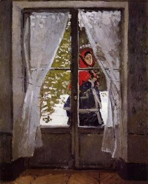 Claude Oscar Monet - The Red Kerchief  Portrait Of Madame Monet