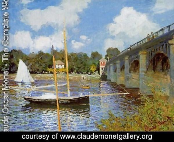 Claude Oscar Monet - The Road Bridge At Argenteuil